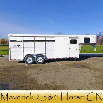 Maverick 2,3 And 4 Horse GN Trailers ...